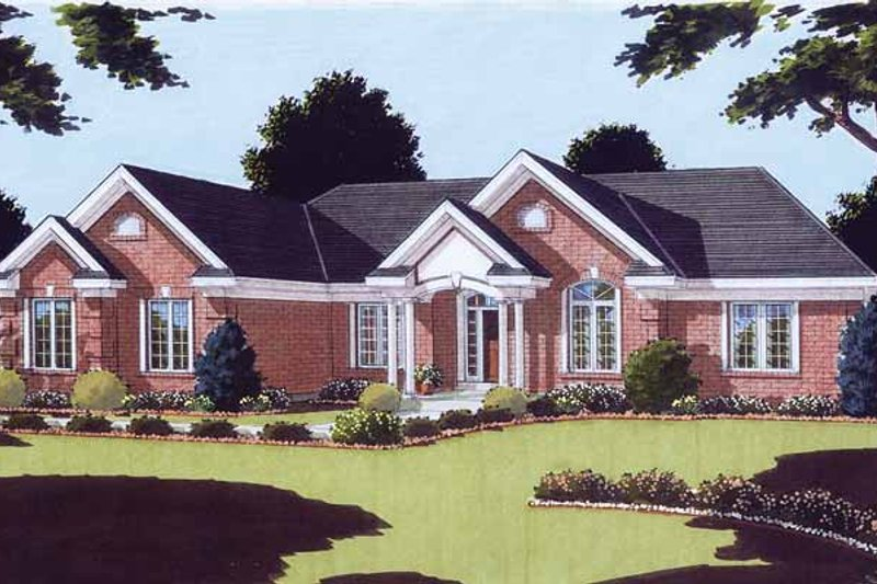 Traditional Exterior - Front Elevation Plan #46-779 - Houseplans.com