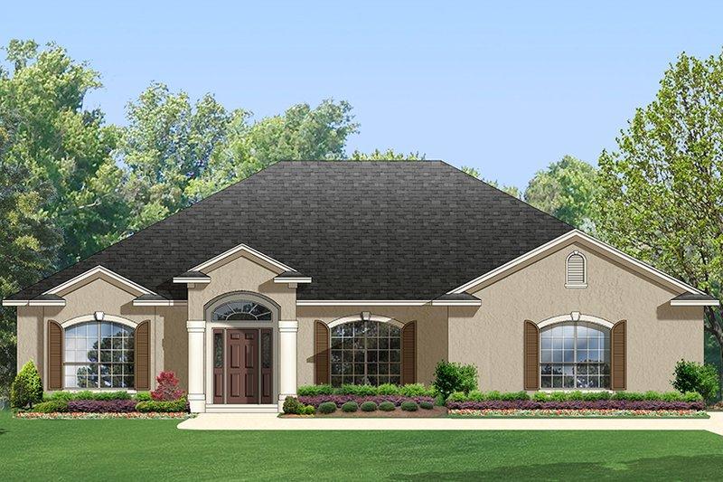 Architectural House Design - Adobe / Southwestern Exterior - Front Elevation Plan #1058-96