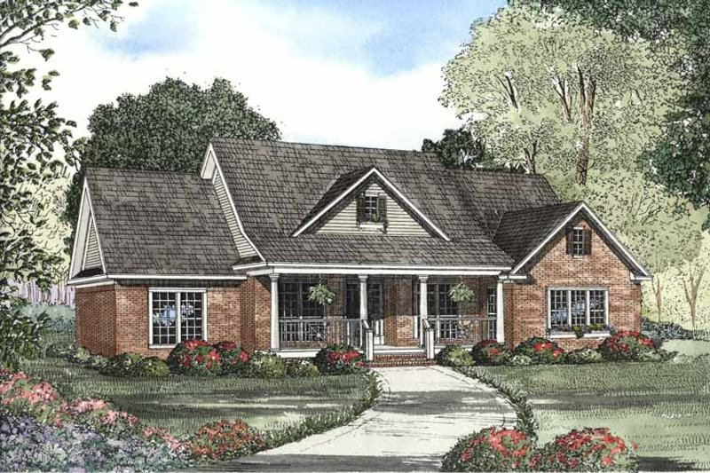 Country Exterior - Front Elevation Plan #17-3039