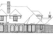 European Style House Plan - 6 Beds 6.5 Baths 4674 Sq/Ft Plan #310-211 Exterior - Rear Elevation