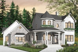 Victorian Exterior - Front Elevation Plan #23-749