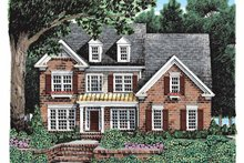 Home Plan - Colonial Exterior - Front Elevation Plan #927-927