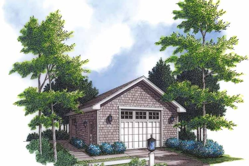 Country Exterior - Front Elevation Plan #48-842