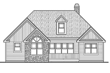 Craftsman Exterior - Rear Elevation Plan #314-279