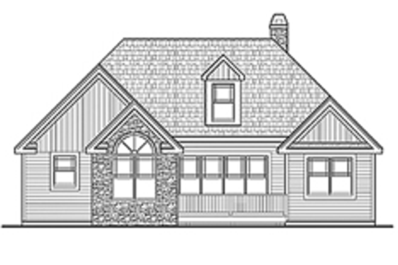 Craftsman Exterior - Rear Elevation Plan #314-279 - Houseplans.com