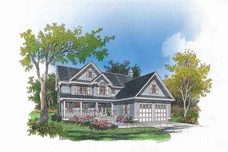 Country Exterior - Front Elevation Plan #929-435