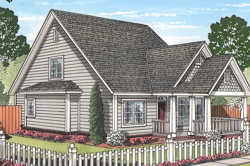 Traditional Exterior - Front Elevation Plan #513-2161 - Houseplans.com