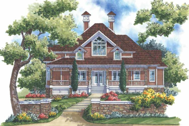 Victorian Exterior - Front Elevation Plan #930-171 - Houseplans.com