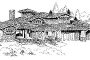 Craftsman Style House Plan - 5 Beds 6.5 Baths 5876 Sq/Ft Plan #942-16 Exterior - Front Elevation