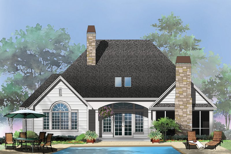 Craftsman Exterior - Rear Elevation Plan #929-6 - Houseplans.com