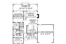 Country Floor Plan - Main Floor Plan Plan #137-372