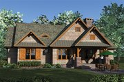 Craftsman Style House Plan - 3 Beds 3.5 Baths 2184 Sq/Ft Plan #453-615 Exterior - Rear Elevation