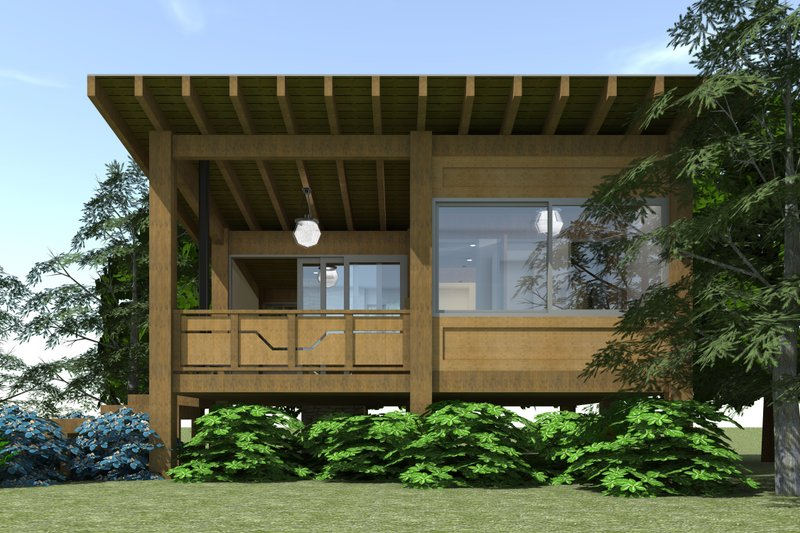 Modern Exterior - Front Elevation Plan #64-210 - Houseplans.com
