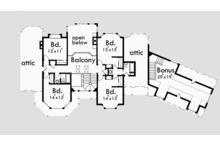 Country Floor Plan - Upper Floor Plan Plan #303-472