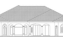 House Design - Mediterranean Exterior - Rear Elevation Plan #930-418