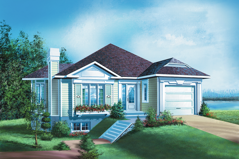 Traditional Style House Plan - 3 Beds 2 Baths 1511 Sq/Ft Plan #25-1198 Exterior - Front Elevation