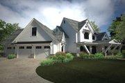 Country Style House Plan - 4 Beds 4.5 Baths 4839 Sq/Ft Plan #120-250 Exterior - Other Elevation