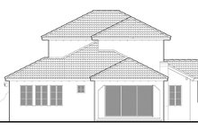 Architectural House Design - Mediterranean Exterior - Rear Elevation Plan #1058-147