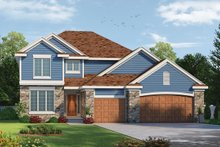 Traditional Exterior - Front Elevation Plan #20-2083