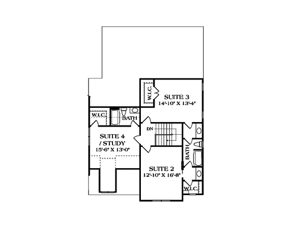 Craftsman Floor Plan - Upper Floor Plan Plan #453-9