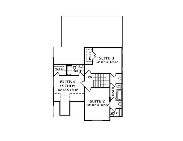 Craftsman Floor Plan - Upper Floor Plan Plan #453-9