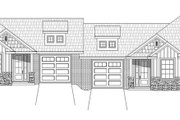 Craftsman Style House Plan - 4 Beds 4 Baths 2458 Sq/Ft Plan #932-27 Exterior - Front Elevation