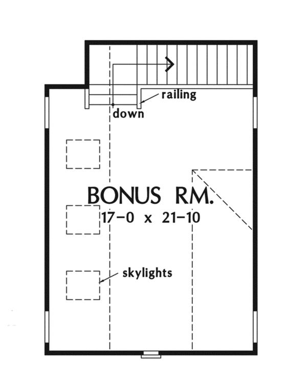 Craftsman Floor Plan - Other Floor Plan Plan #929-923