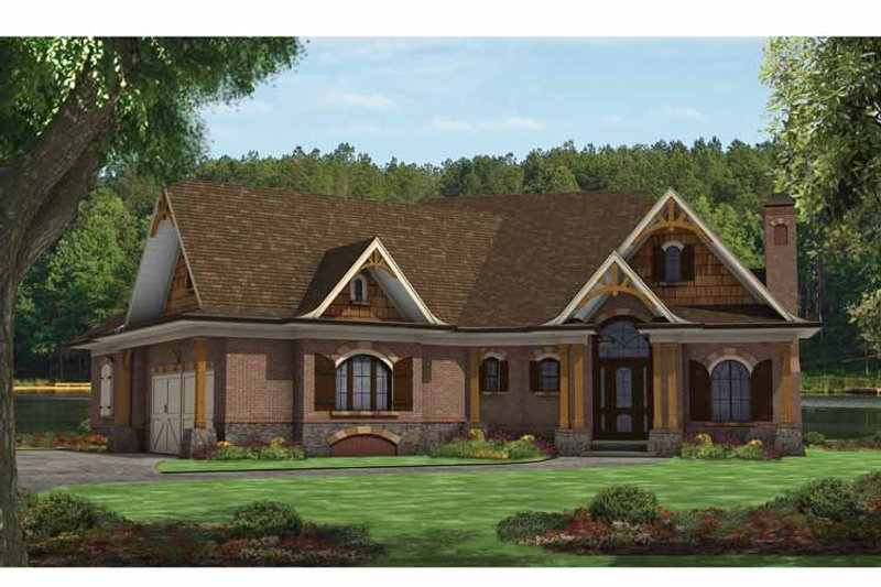 Craftsman Exterior - Front Elevation Plan #54-366 - Houseplans.com
