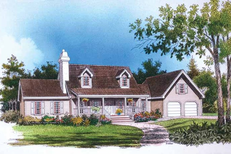 Home Plan - Country Exterior - Front Elevation Plan #929-81