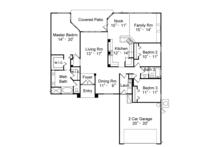 Mediterranean Floor Plan - Main Floor Plan Plan #417-831