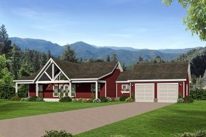 Country Exterior - Front Elevation Plan #932-62