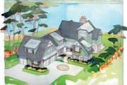 Traditional Style House Plan - 5 Beds 4.5 Baths 4448 Sq/Ft Plan #928-23 Exterior - Front Elevation