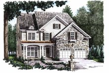Home Plan Design - Country Exterior - Front Elevation Plan #927-647