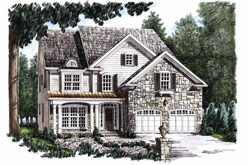 Country Exterior - Front Elevation Plan #927-647