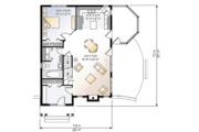 Cottage Style House Plan - 3 Beds 2 Baths 1590 Sq/Ft Plan #23-614 Floor Plan - Main Floor Plan