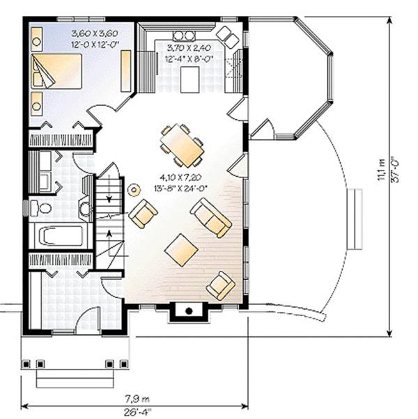 Cottage Floor Plan - Main Floor Plan Plan #23-614