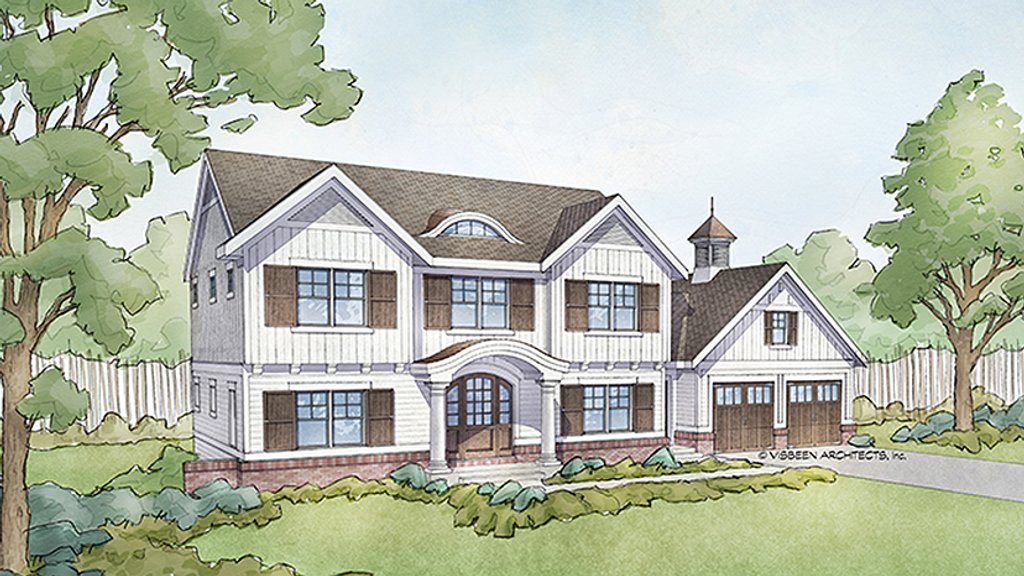 colonial style house plan 4 beds 2 5 baths 2608 sq ft 18897 | w1024 v 1