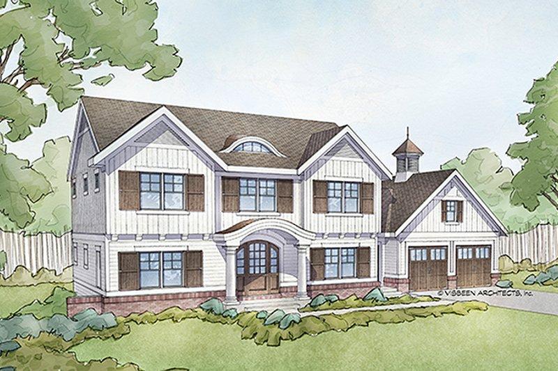 Colonial Exterior - Front Elevation Plan #928-289 - Houseplans.com
