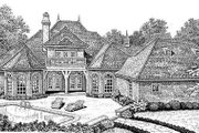 European Style House Plan - 4 Beds 3.5 Baths 4182 Sq/Ft Plan #310-345 Exterior - Rear Elevation