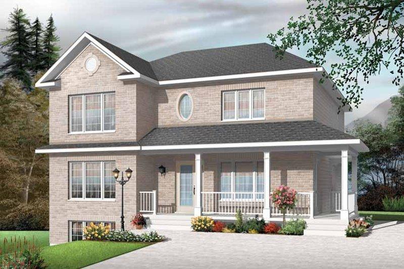 House Plan Design - European Exterior - Front Elevation Plan #23-2447