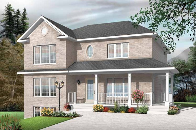 Home Plan - European Exterior - Front Elevation Plan #23-2447