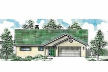 Home Plan - Country Exterior - Front Elevation Plan #52-265