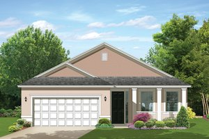 Home Plan Design - Colonial Exterior - Front Elevation Plan #1058-102