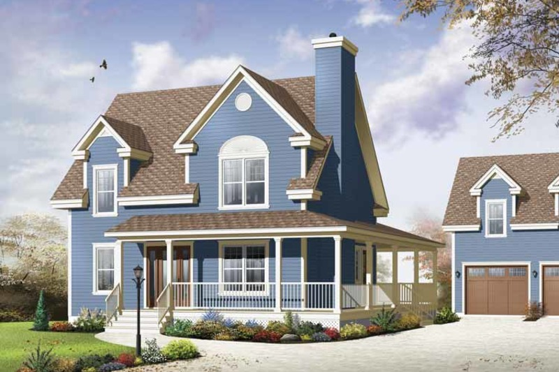 Country Exterior - Front Elevation Plan #23-2502