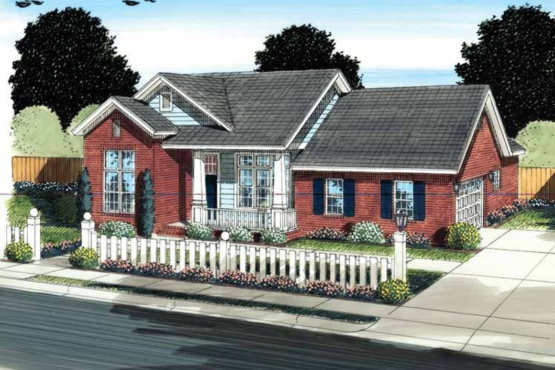 House Plan Design - Traditional Exterior - Front Elevation Plan #513-2132