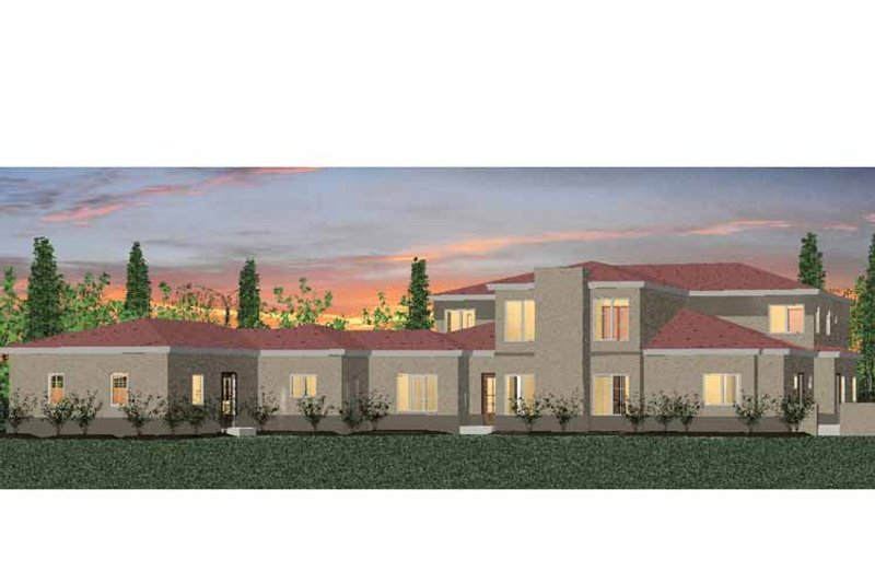 Mediterranean Exterior - Rear Elevation Plan #937-16 - Houseplans.com