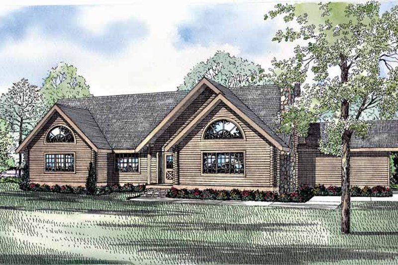 Country Exterior - Front Elevation Plan #17-3256
