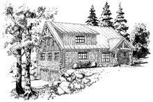 Dream House Plan - Log Exterior - Front Elevation Plan #942-23