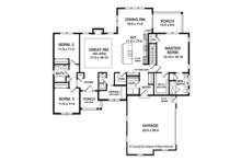 Ranch Floor Plan - Main Floor Plan Plan #1010-202