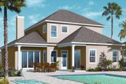 Mediterranean Style House Plan - 4 Beds 3.5 Baths 2550 Sq/Ft Plan #23-2248 Exterior - Rear Elevation